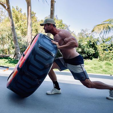 Chris Hemsworth has been working out for his role in Thor and to play Hulk Hogan.