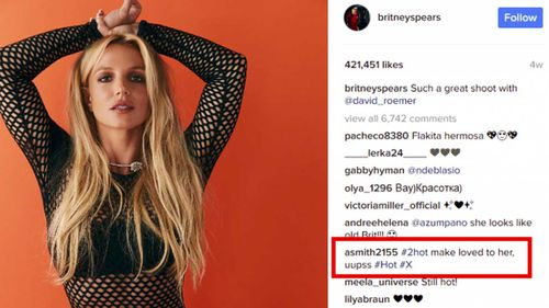 A screenshot from Britney Spears' Instagram account.