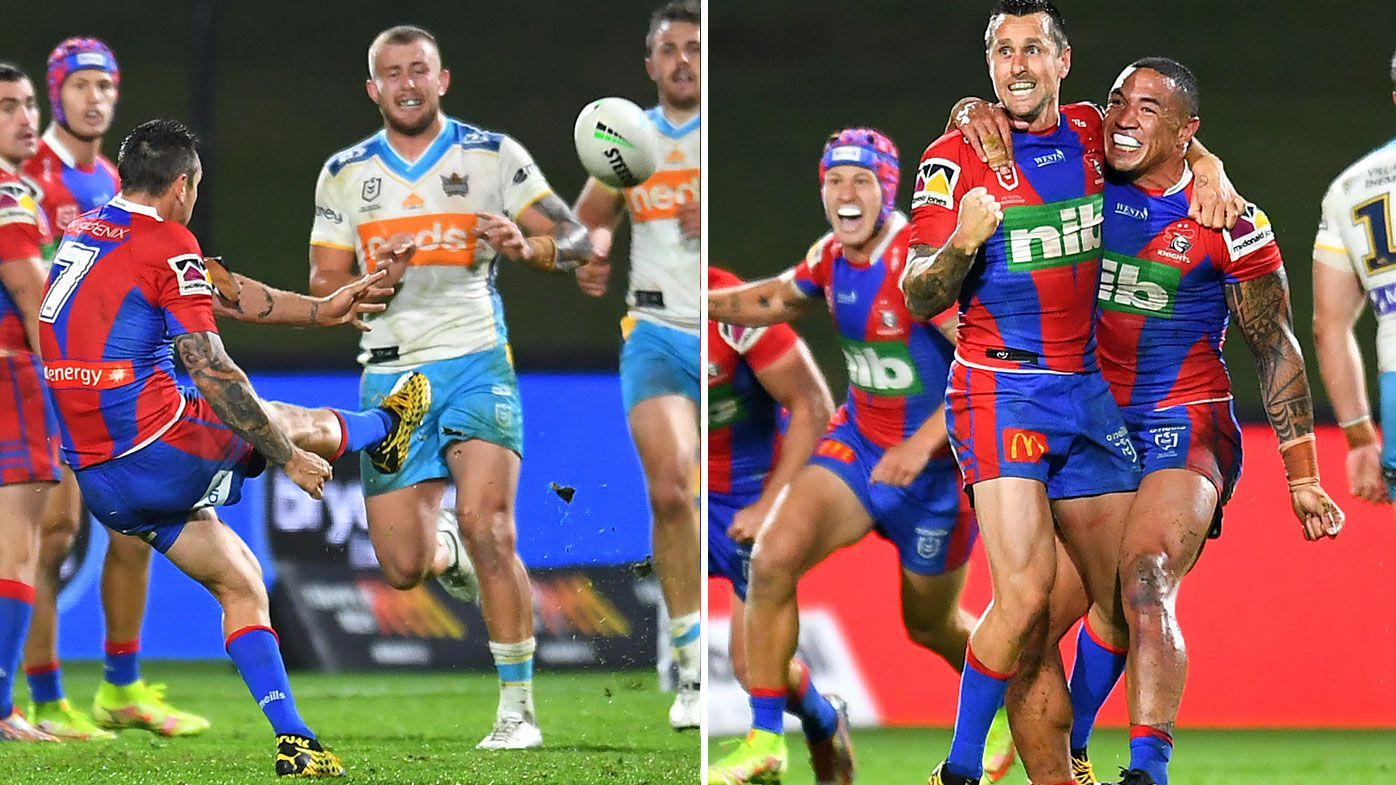 Pearce kicked the Knights into the NRL finals.
