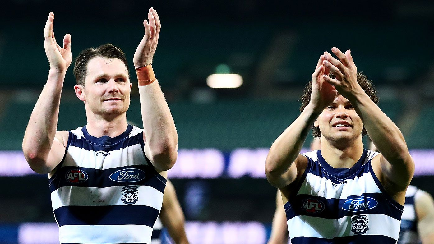 Patrick Dangerfield admits vintage performance in Cats win inspired by Lachie Neale match-up