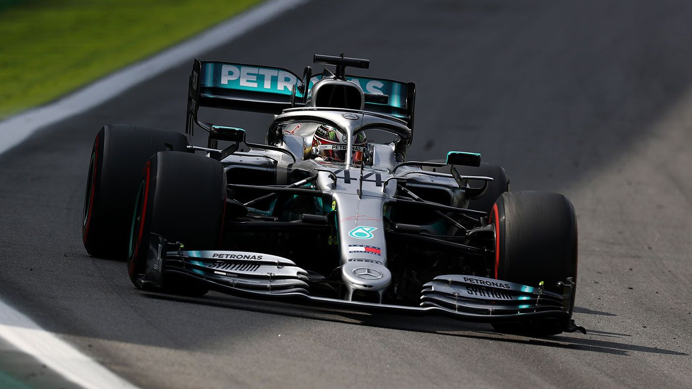 Lewis Hamilton in action during the Brazilian Grand Prix.