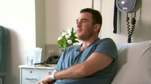 The 31-year-old spoke to 9NEWS from his hospital bed today. (9NEWS)