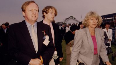 Andrew and Camilla Parker Bowles with their son Tom in 1992.