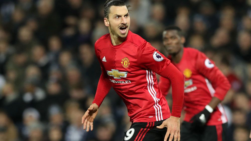 Zlatan Ibrahimovic is in a rich vein of form. (AAP)