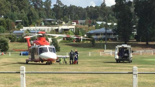 Denyer and his co-driver were airlifted to hospital. (9NEWS)