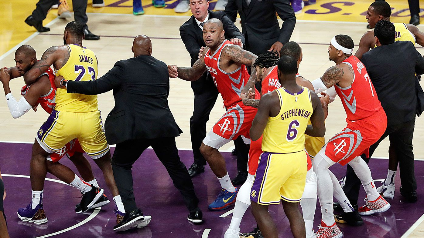NBA brawl between Rondo, Paul and Ingram