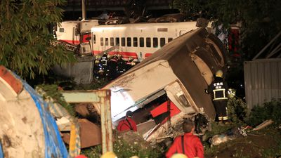 Train derailment in Taiwan kills at least 22 and injures hundreds