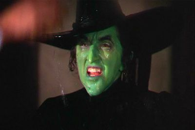 That cackling Wicked Witch of the West has haunted generations of young viewers, and still does today. She threatens to drown poor Toto, constantly harangues dopey Dorothy for those slippers, and melts to death after Dorothy splashes her with water. What a way to go ...