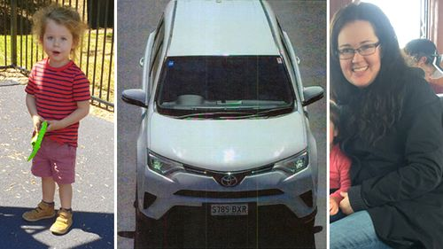 Ms Tate's car, a white 2017 Toyota Rav 4 with South Australian registration S785BXR, was last seen at Bordertown, South Australia, five months ago.