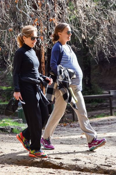<p>Actress and A-lister Natalie Portman is known for her elegant style on the red carpet.</p> <p> </p> <p>But this week she opted for classic, Californian comfy — dressing down her baby bump in yoga pants, a breton-striped tee and bright purple sneakers.</p> <p> </p> <p>You could hear the collective sigh of pregnant mums everywhere, tired of feeling crappy every time a celebrity mumma-to-be steps out in a sheath and stilettos.</p> <p> </p> <p>The star of the new 'Jackie' film, looked happy and healthy, as she stepped out for a stroll in Los Angeles with mum, Shelley.<em></em></p> <p> </p> <p>Natalie, 35, is expecting her second baby with hubby Benjamin Millepied, 39, with whom she already has a son Aleph, five.</p> <p> </p> <p>Scroll through to check out some more of Natalie's baby mamma style.</p>