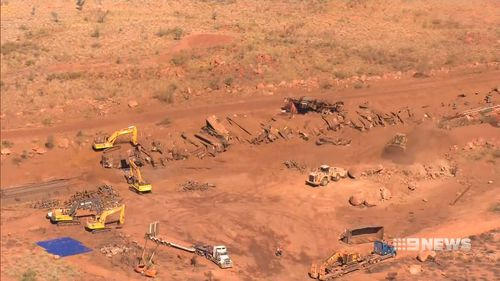 The cost in damages from a BHP Billiton iron ore train that was deliberately derailed 119km from Port Hedland could soar into the multi-millions.