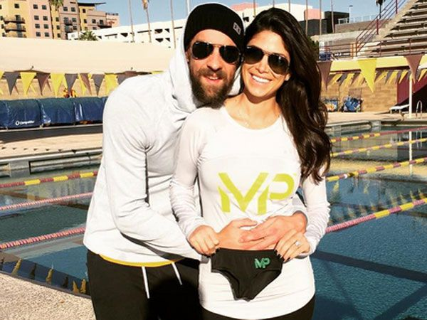 Swim star Michael Phelps and his fiancee are expecting a baby. (Supplied)