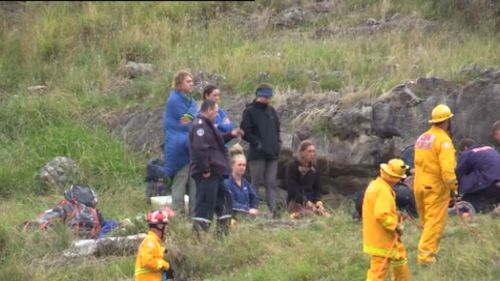 Search and rescue workers began a difficult 8-hour rescue operation. (9NEWS)
