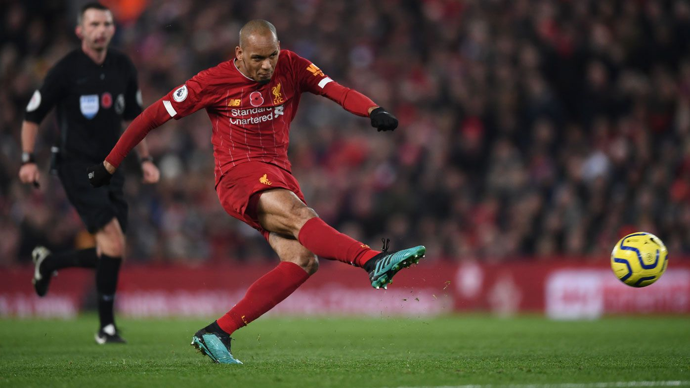Fabinho thunderbolt as Liverpool beat Manchester City for nine-point EPL lead