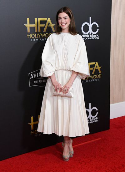 Anne Hathaway, inValentino, at the 22nd Annual Hollywood Film Awards, November, 2018