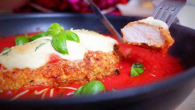 Controversial one pan chicken parmigiana