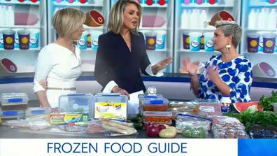 Frozen food tips with 9Honey, Jane de Graaff and Today Show