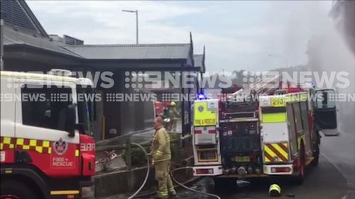 Seven NSW Ambulance crews are responding to reports the truck lost control about 10.45am and careered into the car park of a McDonalds at Fairy Meadow, on the Princess Highway.