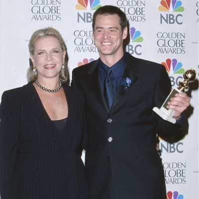 Lauren Bacall and Jim Carey