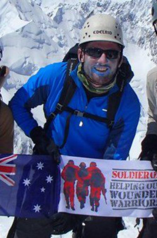The stranded climber has been identified as Lieutenant Terry Harch of the ADF. Picture: Soldier On