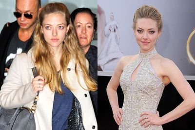 """Amanda looked less """"miserable"""" after freshening up for her red carpet appearance."""