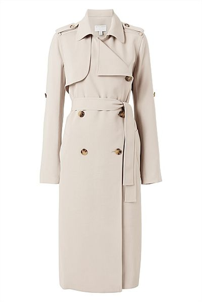 "<a href=""https://www.witchery.com.au/shop/woman/clothing/jackets-and-coats/60208755/Hardware-Trench.html"" target=""_blank"">Witchery</a> hardware trench, $229.95<br />"