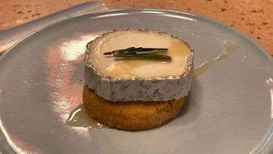 Pick & Cheese's best seller is the Driftwood - goats cheese with honey drizzle and rosemary shortbread