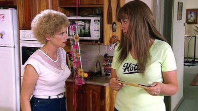 Kath (Jane Turner) and Kim (Gina Riley) on Kath & Kim.