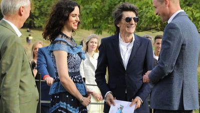 Prince William meets rock star Ronnie Wood, September 2018