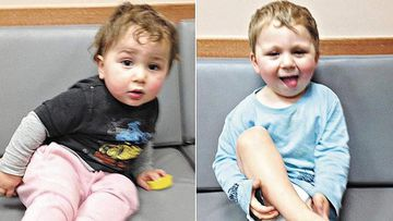 The brothers, aged 18 months and two, were found wearing little more than nappies in the 13 degree Sunday afternoon. (Supplied)