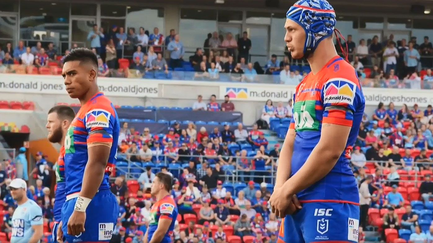 NRL: Newcastle Knights and Cronulla Sharks observe minute silence for Christchurch victims as tributes flow from sporting world