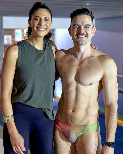 Stephanie Rice and Sam Downing