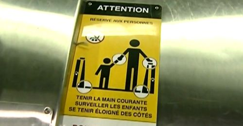 "Bela Kosoian was at the Montmorency Metro station in 2009 when a police officer told her to comply with the instruction ""Hold the handrail."""