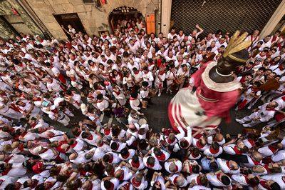 Thousands flock to Pamplona for the running of the bulls festival