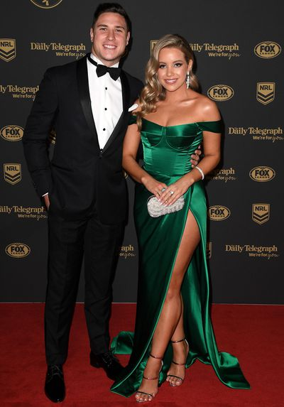 Bri Gardoni and Mitchell Moses at the 2019 Dally M Medal