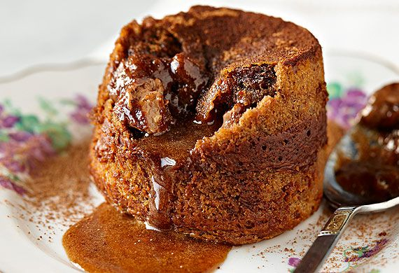 Chocolate fruit and nut fondant puddings