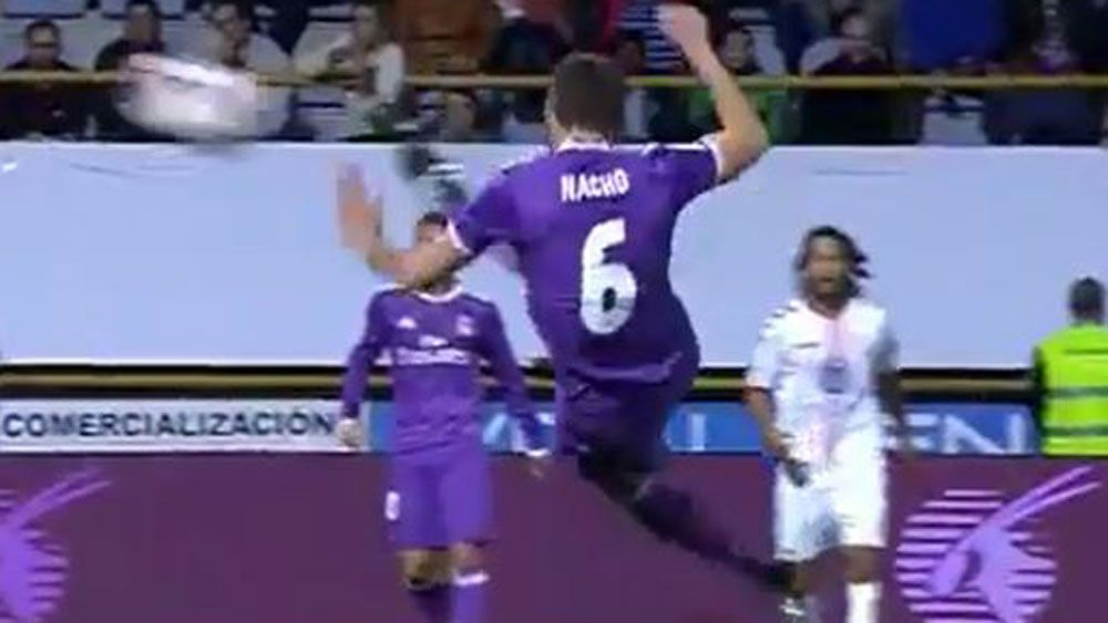 Nacho gives Real Madrid teammate Cristiano Ronaldo some competition
