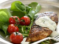 Chicken with tzatziki