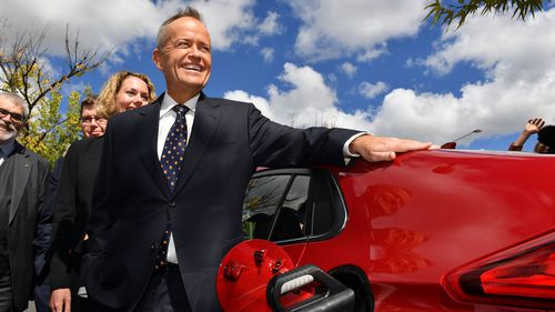 Bill Shorten's plan would have 50 percent of new cars sold in Australia in 2030 be electric.
