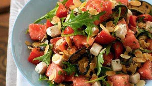 Tomato & watermelon salad with feta