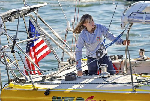 Abby Sunderland was 16 when she set sail on a solo-world-tour.