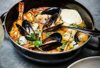 Fish stew with rouille