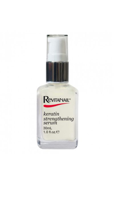 <p>Most commonly found in hair treatments, Keratin works much the same way to repair and strengthen nails.</p>