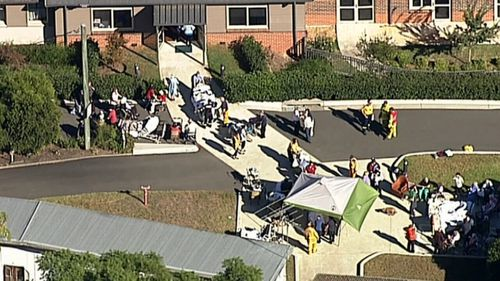There were reports of a fire in the laundry of the nursing home on Thirlmere Way in Thirlmere (9NEWS)