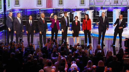 Ten of the 24 Democratic candidates for president took the stage in Miami.