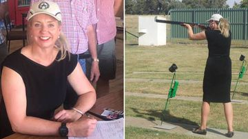 Senator Bridget McKenzie at the Wangaratta Clay Target Club.