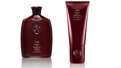 """For coloured hair:<br><p><a href=""""http://www.oribe.com/"""" target=""""_blank"""">Beautiful Colour Shampoo, $56, and Conditioner, $59, Oribe, 1300 725 122.</a></p>"""