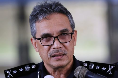 Police Chief Mohamad Mat Yusop speaks to media during a press conference at Police Contigent Headquarters, Seremban, Negeri Sembilan, Malaysia, 15 August 2019.