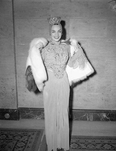 Carmen Miranda at the 13th Annual Academy Awards