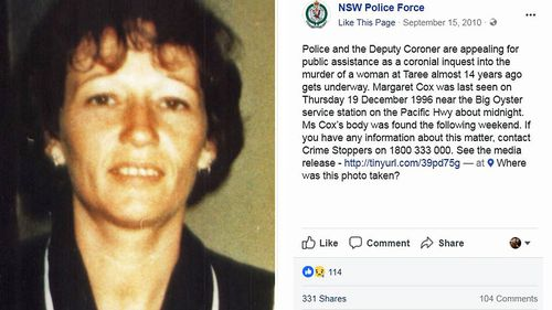 Margaret Cox went missing one December night in 1996. Her bludgeoned remains were found by local fishermen two days after her vanishing. No crime scene has ever been found.